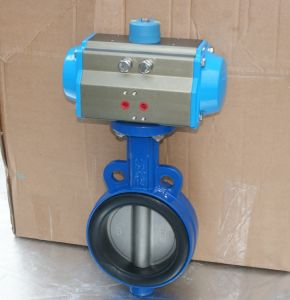 ANSI 150lb Pneumatic Butterfly Valve (WCB/SS304/316/PTFE) pictures & photos