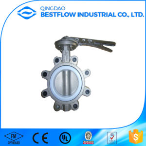 Handlever Operated Lug Type Cast Steel Butterfly Valve pictures & photos