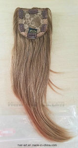 Brown Hair Color Silk Top Closure/Jewish Kosher Topper/ Hair Wigs pictures & photos