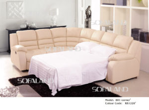 Modern Leather Corner Sofa Bed 801# pictures & photos