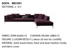 New Modern Living Room Furniture Hotel Bedroom Fabric Sofa (5seater) pictures & photos