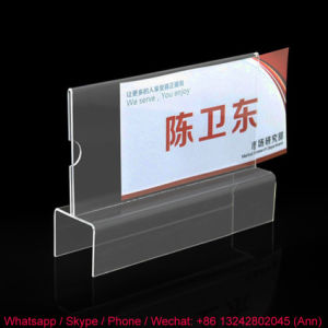 Clear Acrylic Material Business Card Holder pictures & photos