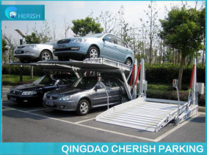2.7t Hydraulic Two Post Tilting Car Parking Lift pictures & photos