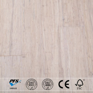 Stained Ivory White Strand Woven Bamboo Flooring