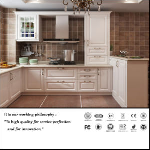 Pure White Classical PVC Kitchen Cabinet (ZH061) pictures & photos