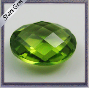 Double Checker Cut Semi-Precious Peridot Stones pictures & photos