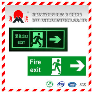 Pet/PVC Photo Luminescent Reflective Film for Parking Sign (FG301) pictures & photos