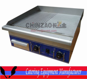 Cooking Equipment Half Flat Half Groove Electric Griddle (DPL-620-2) pictures & photos