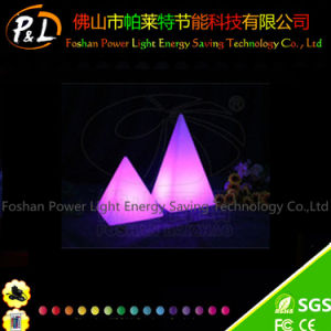 Rechargeable Illuminated Big Decorative LED Pyramid Lamp pictures & photos