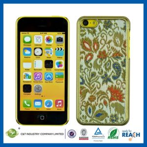 Gold Fabric Sticker Chrome Case for iPhone 5s pictures & photos
