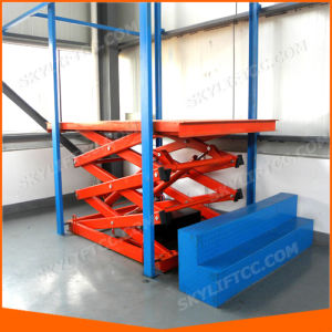 Stationary Electric Hydraulic Scissor Lift pictures & photos