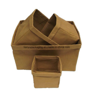 Washable Kraft Paper Fruit Vegetable Food Bread Flower Stationary Basket Organizer Storage pictures & photos