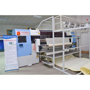 Yuxing hot-sale computerized shuttleless quilting mattress machine can do tack and jump patterns pictures & photos