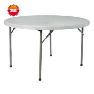 Blow Molded Plastic Round Table Folding 48′′*30′′ pictures & photos