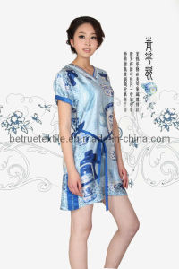 Classic Hand Painting Silk Nightwear -BTU1140