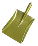 Spade/Golden Color Painted Shovel