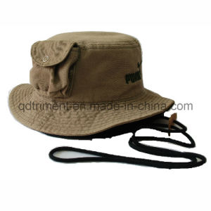 Fashion Pocket Cotton Twill Leisure Fishing Bucket Hat (TRBH011) pictures & photos