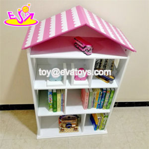 New Design House Shape Wooden Kids Playroom Storage for Toy Organizer W08c246 pictures & photos