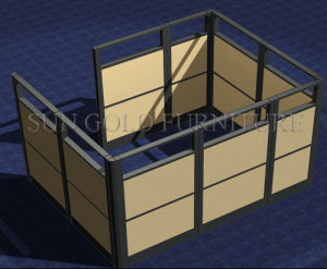 Movable Office Foldable Glass Sliding Wall Partitions (SZ-WST777) pictures & photos