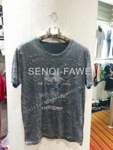 White Tie Dye Geo Print T-Shirt in Man Sport Clothes Fw-8654
