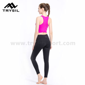 Ladies Sport Wear Bodybuilding Leggings Fitness Long Pants Gym Slim Wear High Elastic Compression Running Clothes pictures & photos