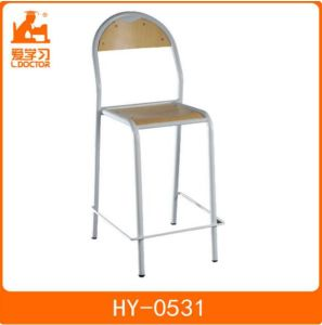 School Wood Lab Chairs with Steel Tube of Student Furniture pictures & photos