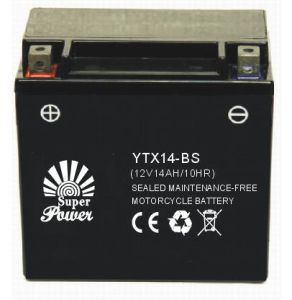 Sealed Maintenance Free Motorcycle Battery 12V 14ah in High Starting Performance with CE UL Certificate pictures & photos
