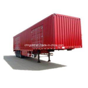 ISO CCC Approved 3 Axles Van / Box Semi Trailer pictures & photos