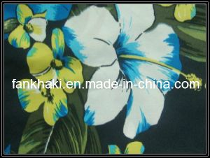 Big Flower Print 100% Polyester 433t 75D *100D *2 Peach Skin Fabric (FKQ130704033)