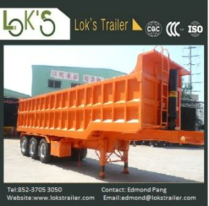 31cbm 3 Axles Soil Tipper Semi Trailer pictures & photos