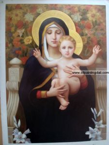 Religion Oil Painting on Canvas (T45)