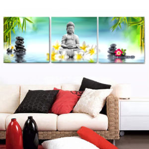 3 Piece Modern Wall Art Printed Painting Buddha Painting Room Decor Framed Art Picture Painted on Canvas Home Decoration Mc-237 pictures & photos