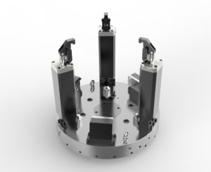 Motor Housing Hydraulic Lathe Workholding pictures & photos