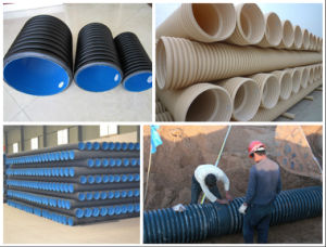 PE Double Wall Corrugated Pipe Extrusion Making Machine -Suke pictures & photos