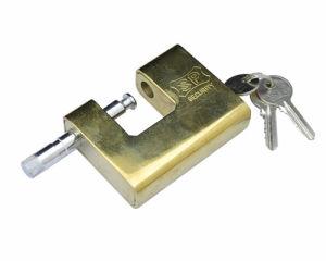 Steel Padlock, Golden Rectangular Lock, Golden Steel Padlock pictures & photos
