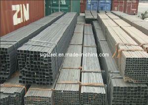 Welded Steel Square Pipe 6m Length pictures & photos