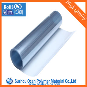 670X0.45mm Glossy Transparent Clear PVC Roll for Thermoforming Food Grade pictures & photos