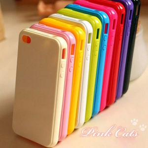 Good -Looking Jelly Silicon Gel Soft Case for iPhone 4S 5s
