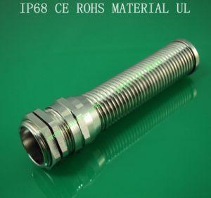 Metal/Metallic Flex Spiral Cable Glands Series,G Type,Brass Plated Nickel,Waterproof, Dustproof, IP68, CE, RoHS