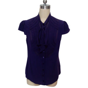 Ladies Fashion Casual Shirt in Silk Cdc