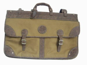 Canvas and Imitation Leather Travel Bag (HA193CAPU)