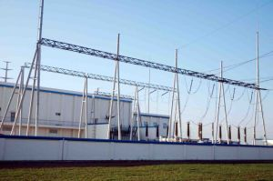 220kv Beam Post Substation Structure pictures & photos