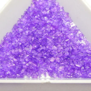 Purple Crushed Glass Rock Chips pictures & photos