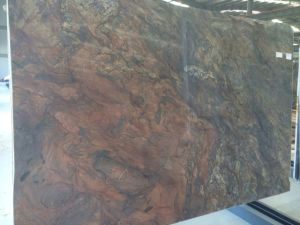 Polished Fusion Slabs Red Color Granite Quartz Countertop Natural Quartzite
