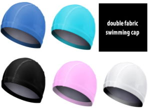 Waterproof PU Coated Spandex Swimming Cap pictures & photos
