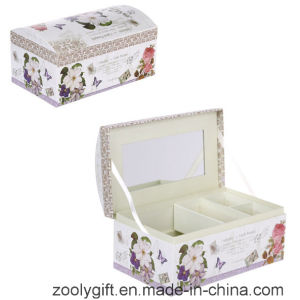 Arch Printed Cosmetic Gift Box / Promotional Paper Music Box with Mirror and Lock pictures & photos