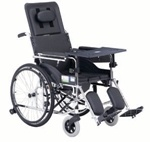 Hight Backrest with Commode Steel Wheelchair