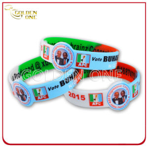 Souvenir Gift Debossed Printed Concave Design Rubber Bracelet pictures & photos