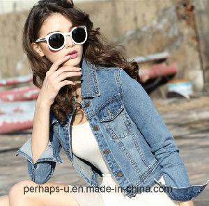 High Quality Women Short Wild Fashion Denim Jacket Female Coat pictures & photos