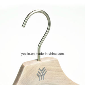 Hot Sale Beech Wood Water-Washed Finsh Garment Usage Clothes Hanger (YL-a014) pictures & photos